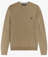 Picture of Fred Perry Knitwear Classic Crew Neck Warm Stone